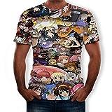 Grafica Colorata Divertente Stampata,T-Shirt a Maniche Corte 3D Niki Fairy Tail 3D-T1888_6xlarge.