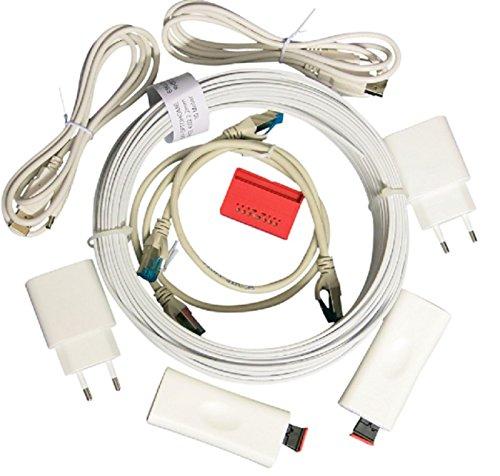 Homefibre OMC1001GIG-220-20SI Medienkonverterset weiß. Schnelle, strahlungsfreie POF Gigabit Netzwerk Verbindung