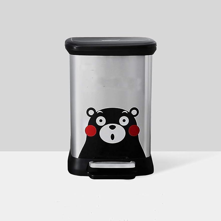 ローズ会計ボルトXLSM カバー付きペダル家庭用ゴミ箱大/インナーバレルプレッシャーリングデザインペーパーバレル12Lが付属 ごみ箱 (Color : Silver)
