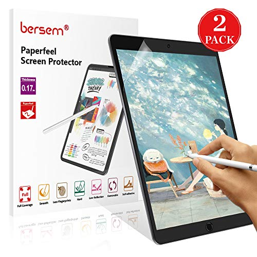 [2 Pack]Paperfeel iPad 9.7 Screen Protector, iPad screen protector 9.7 Matte PET Film for Drawing Anti-Glare and Paperfeel iPad Pro 9.7 Inch/iPad Air 2 / iPad Air