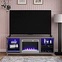 Ameriwood Home Lumina Fireplace TV Stand
