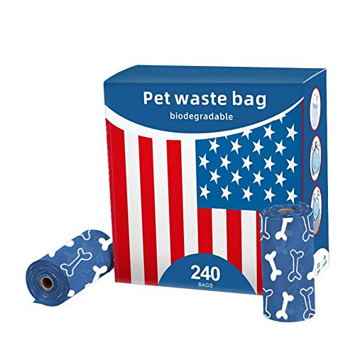 Dog Poop Bags | Pet Waste Bags | 240 Count 16 Refill Rolls Biodegradable Bags | EcoFriendly Bags for Pet | LeakProof 100% Compostable |