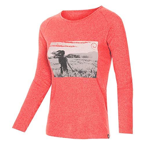 Trangoworld Jara T-Shirt Femme, Corail Intense, XS