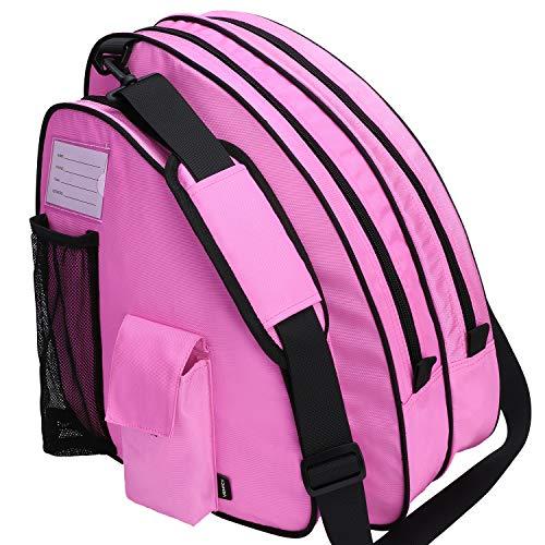 VENTCY Inliner Tasche, Skischuhtasche Kinder, Rollschuhe Tasche, Tasche für Inliner, Eislauf Inliner Tasche Kinder, Rollschuhe Tasche, Skatertasche für Kinder/Erwachsene Rosa
