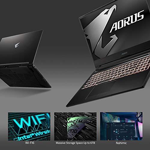 [2020] AORUS 5 (SB) Gaming Laptop, 15.6-inch FHD 144Hz IPS, GeForce GTX 1660 Ti, 10th Gen Intel i7-10750H, 16GB DDR4, 512GB NVMe SSD