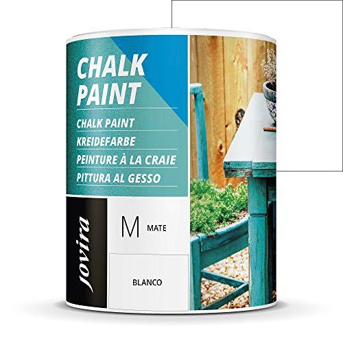 PINTURA EFECTO TIZA,CHALK PAINT, AL AGUA MATE, Renueva tus muebles con creatividad. (750 ml, BLANCO)