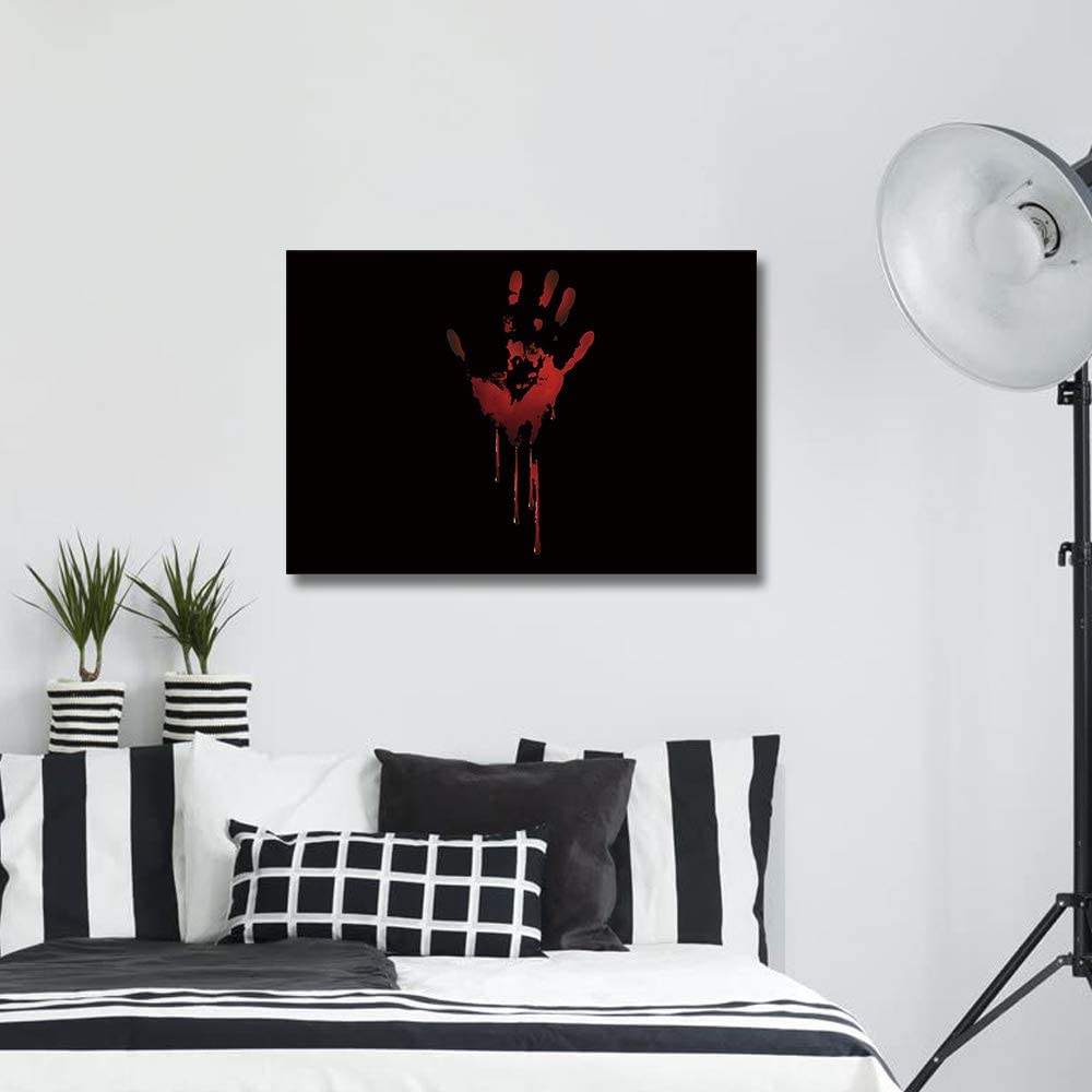 Canvas Wall Art Framed Decoration Halloween Scary Bloody Gorgeous Max 42% OFF Ha