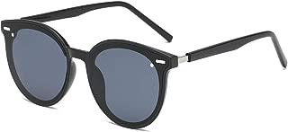 LKEYE Vintage Retro Polarized Oversized Keyhole Round Mirrored Lens Sunglasses For Women Eyewear LK1801