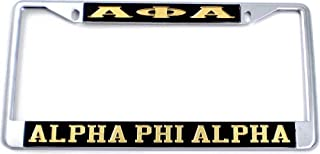 cnincudhi Alpha Phi Alpha Classic Color License Plate Frames Metal Frame - Permanent Patterns Individuality