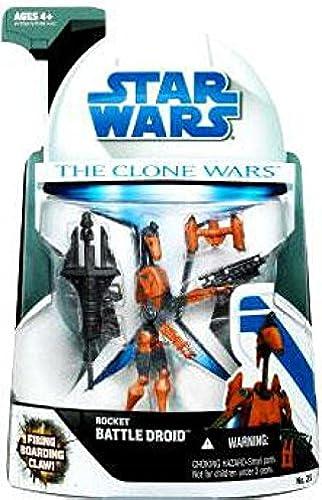 Hasbro - Star Wars  The Clone Wars - Rocket Battle Droid with Firing Boarding Claw