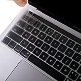 EooCoo Cubierta del Teclado Compatible para 2020 MacBook Pro 13 Pulgadas A2338 A2289 A2251 con Touch Bar y Touch ID, QWERTY Español Diseño - TPU Claro