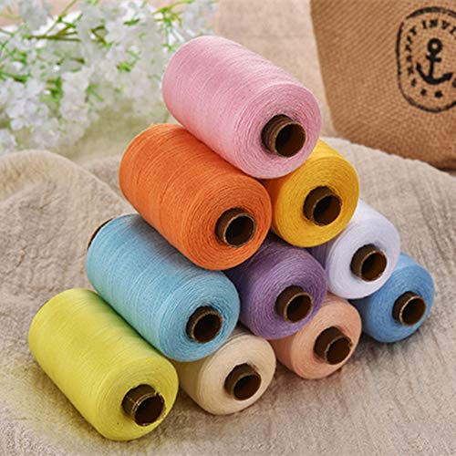 Amazing Deal 24Pcs Sewing Thread 1000 Yards Large Volume Hand Stitching Machine Line Clothes Home Mu...