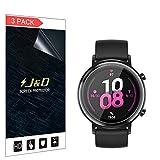 J&D Compatible para Huawei Watch GT 2 42mm Protector de Pantalla (No de Vidrio), 3-Pack [Cobertura Completa] HD Claro Película de TPU Protector de Pantalla para Huawei Watch GT 2 42mm