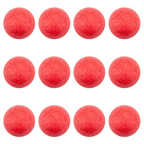 Brybelly 12 Pack of Red Textured Foosballs for Standard Foosball...