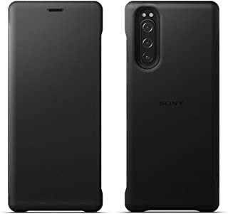 SCLJ10JP/B(ブラック) Xperia 5用 Style Cover Leather
