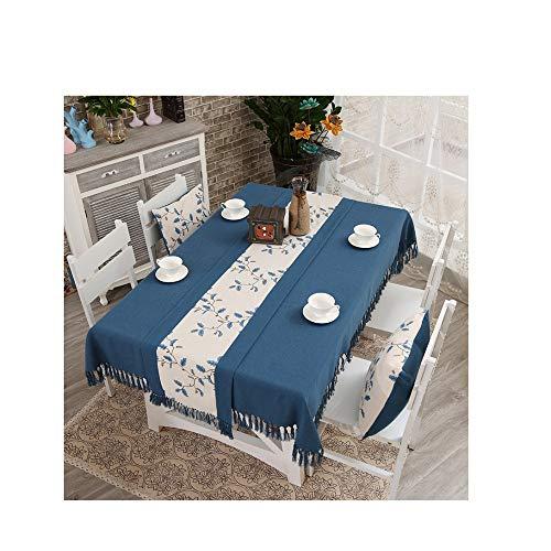 DDPD - Runner da tavolo creativo, tovaglia con fiori cinesi, tovaglia in lino e cotone, set di sedie e tavolino da caffè rettangolare, 38 x 220 cm