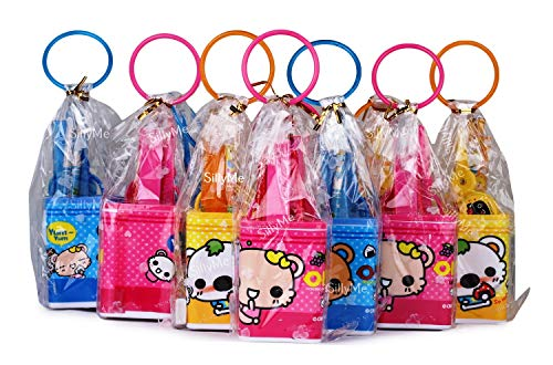 SillyMe Kids Birthday Party Return Gifts Stationary Set for Kids - (Includes Pencil Box case,Scissor,Eraser,Pencil, Sharpener) (12 Cases)