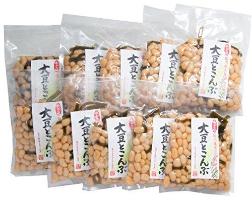 業務用 5%OFF 国産 大豆とこんぶ (遺伝子組み換えでない大豆と昆布を使用)お徳用 10パックセット