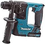 Makita 1 TASSELLATORE 10,8V 2x2Ah-14mm-SDS Plus compatibile-2FUNZ. -1J-Accessori, 10.8 V, Nero
