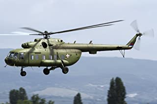Posterazzi Serbian Air Force Mi-17 Utility Helicopter in Flight Over Serbia Poster Print, (34 x 22)