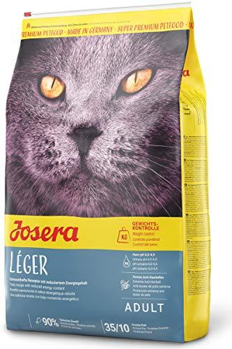 JOSERA Léger (1 x 10 kg) | Katzenfutter mit wenig Fett | für übergewichtige oder sterilisierte Katzen | Super Premium Trockenfutter für ausgewachsene Katzen | 1er Pack