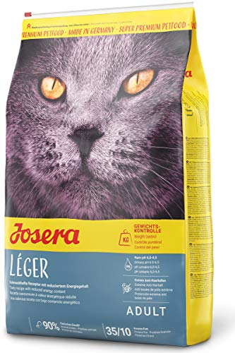 JOSERA Léger, Katzenfutter mit wenig Fett, für übergewichtige oder sterilisierte Katzen, Super Premium Trockenfutter für ausgewachsene Katzen, 1er Pack (1 x 10 kg)
