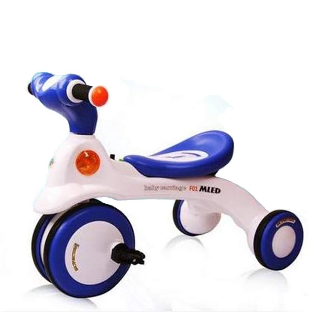 Triciclo para Niños Bicicleta con Luces De Música Cojín Ancho con Rueda Muda Bicicleta para Bebés,Blue: Amazon.es: Deportes y aire libre