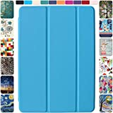 DuraSafe Cases for iPad 9.7 Inch 2013 Air 1st Generation [ Air 1 ] MD785LL/A MD788LL/A MD786LL/A MD789LL/A MD787LL/A MD790LL/A Ultra Slim Smart Auto Sleep / Wake PC Cover - Blue