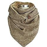 UFLF Bufanda Mujer Cuello Invierno Chal Bufanda Cuello Botones Mantón Mujer para Otoño Invierno