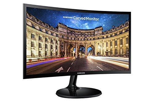 SAMSUNG C24F390 - Monitor Curvo de 24'' (Full HD, 4 ms, 60 Hz, FreeSync, Flicker-Free, LED, VA, 16:9, 3000:1, 1800R, 250 cd/m², HDMI, Base Redonda) Negro, 2020 Model