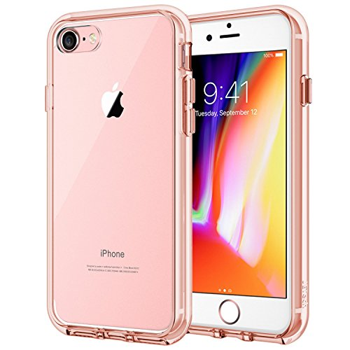 JETech Case for Apple iPhone 8 and iPhone 7, 4.7-Inch, Shock-Absorption Bumper Cover, Anti-Scratch Clear Back, Rose Gold