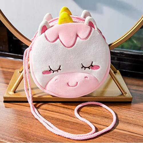 NYSJLONG Bags For Children Children Girls Shoulder Bag Cute Unicorn Animals Messenger Bag Kids Keys Coin Purse Cute Princess Mini Handbag