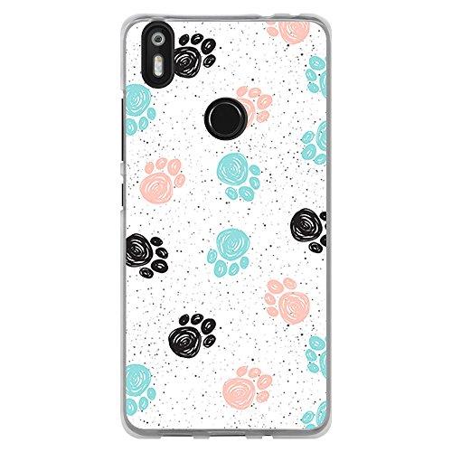 BJJ SHOP Funda Transparente para [ BQ Aquaris X/X Pro ], Carcasa de Silicona Flexible TPU, diseño: Huellas de Mascotas