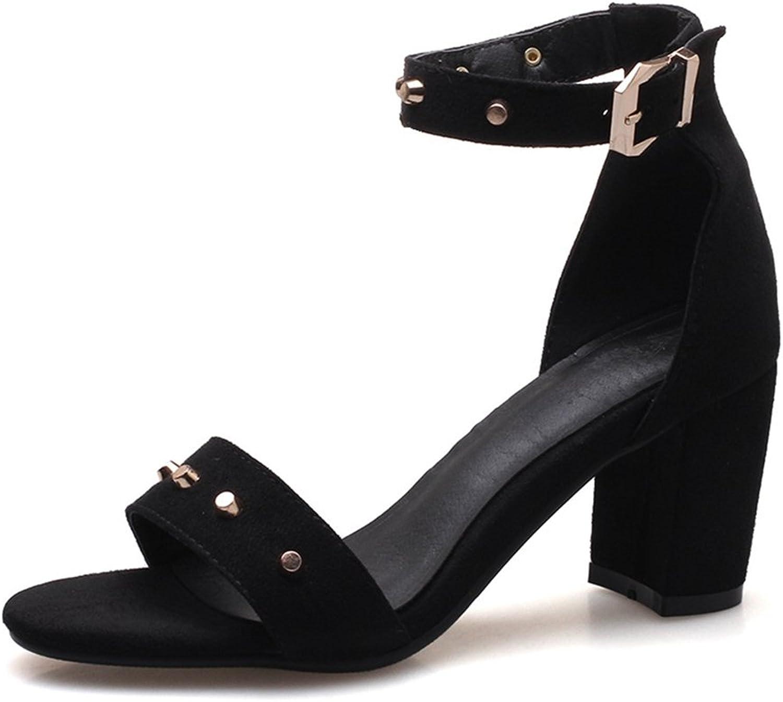 GIY Women's Ankle Strap High Heels Platform Sandals Open Toe -Wedding, Party, Chunky Heel Pump Dress Sandals