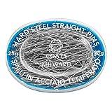 Milward Mercería 1 Caja Ovalada con Alfileres, Material: Acero Endurecido, Color: Plata, Tamaño: 34 X 0,60 Mm, Embalaje: 25g Silber, 7cm x 5cm x 2cm