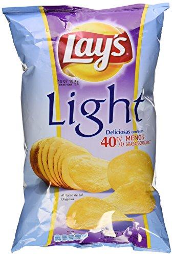 Lay's Light - Patatas Fritas con 40% menos de grasa, 140 gr