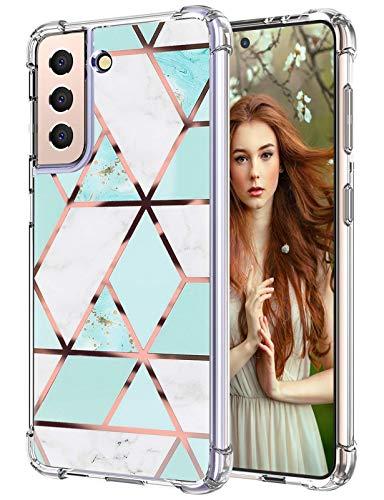 Funda para Samsung Galaxy S21, funda fina de silicona transparente, Galaxy S21, 360 grados, suave, antigolpes, TPU, funda para Samsung S21 de 6,2 pulgadas