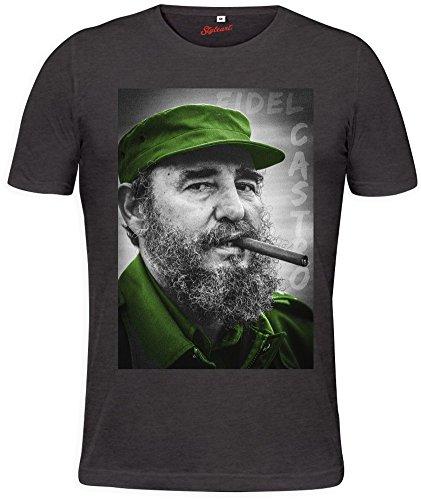 Styleart Fidel Castro Smoking Cigar Mens T-Shirt