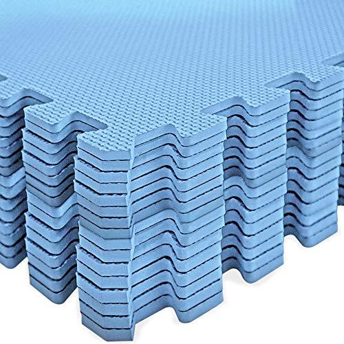 Deuba 16er Set Bodenschutzmatte 45x45x1cm Puzzlematte 3,24m² Schaumstoff Poolmatte Fitness Matte Fitnessmatte Bodenmatte