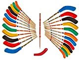 Kicko Hockey Pencils - 9 Inch - 24 Pack - Bulk Multicolor Hockey Stick Pencils with Rubber Blade Eraser - Educational Party Favors with Sports Theme, Team Birthday Parties and School Prizes