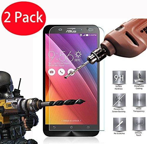 FoneExpert® 2 Pack - Asus Zenfone 2 ZE550ML/ZE551ML Panzerglas, Gehärtetem Schutzfolie Glasfolie Hartglas Panzerfolie Bildschirmschutzfolie für Asus Zenfone 2 ZE550ML/ZE551ML (5.5