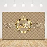 5x3ft VIP Birthday Backdrop for Photography Hollywood Royal Crown Gold Striped Photoshot Background for Adult 30th Birthday Party Decorations Celebrity Birthday Cake Table Banner Photo Booth Props