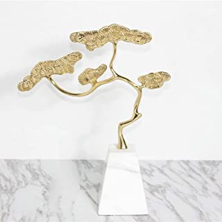 KUVV Crafts New Chinese Zen Shelf Welcoming Pine Furnishings Hotel Bar Teahouse Hall Light Luxury Model Ornament 27 * 8 * ...