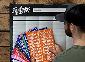 FANTASYJOCKS 2019 Fantasy Football Draft Board Kit (The Executive) - 12 Team