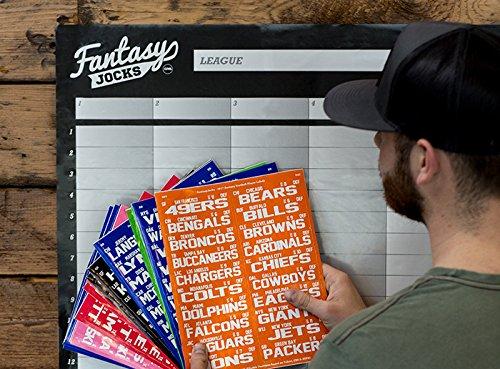 FANTASYJOCKS 2019 Fantasy Football Draft Board Kit (The Manager)