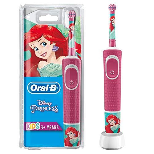 Oral-B Kids Prinzessin Elektrische Zahnbürste mit Disney-Stickern, für Kinder ab 3 Jahren, rosa, Modell Sortiert