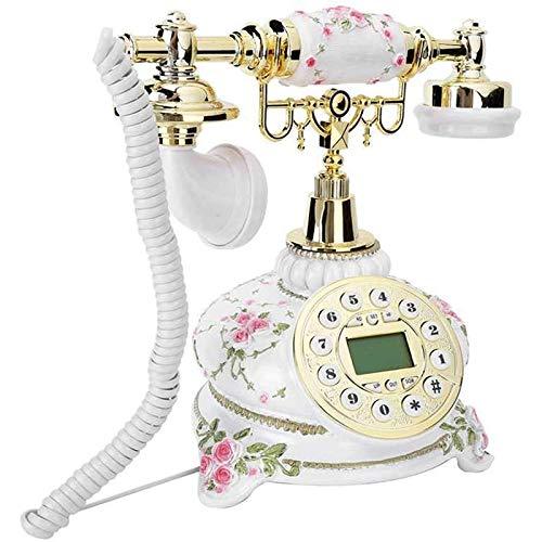 VERDELZ Teléfono Fijo Fijo Oficina En Casa Teléfono De Marcación Retro Teléfono Fijo Antiguo Vintage