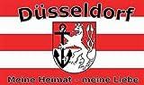 U24 Fahne Flagge Düsseldorf Fanflagge Meine Heimat 90 x 150 cm