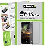 dipos I 2X Schutzfolie matt kompatibel mit Nokia 6.1 2018 Folie Bildschirmschutzfolie
