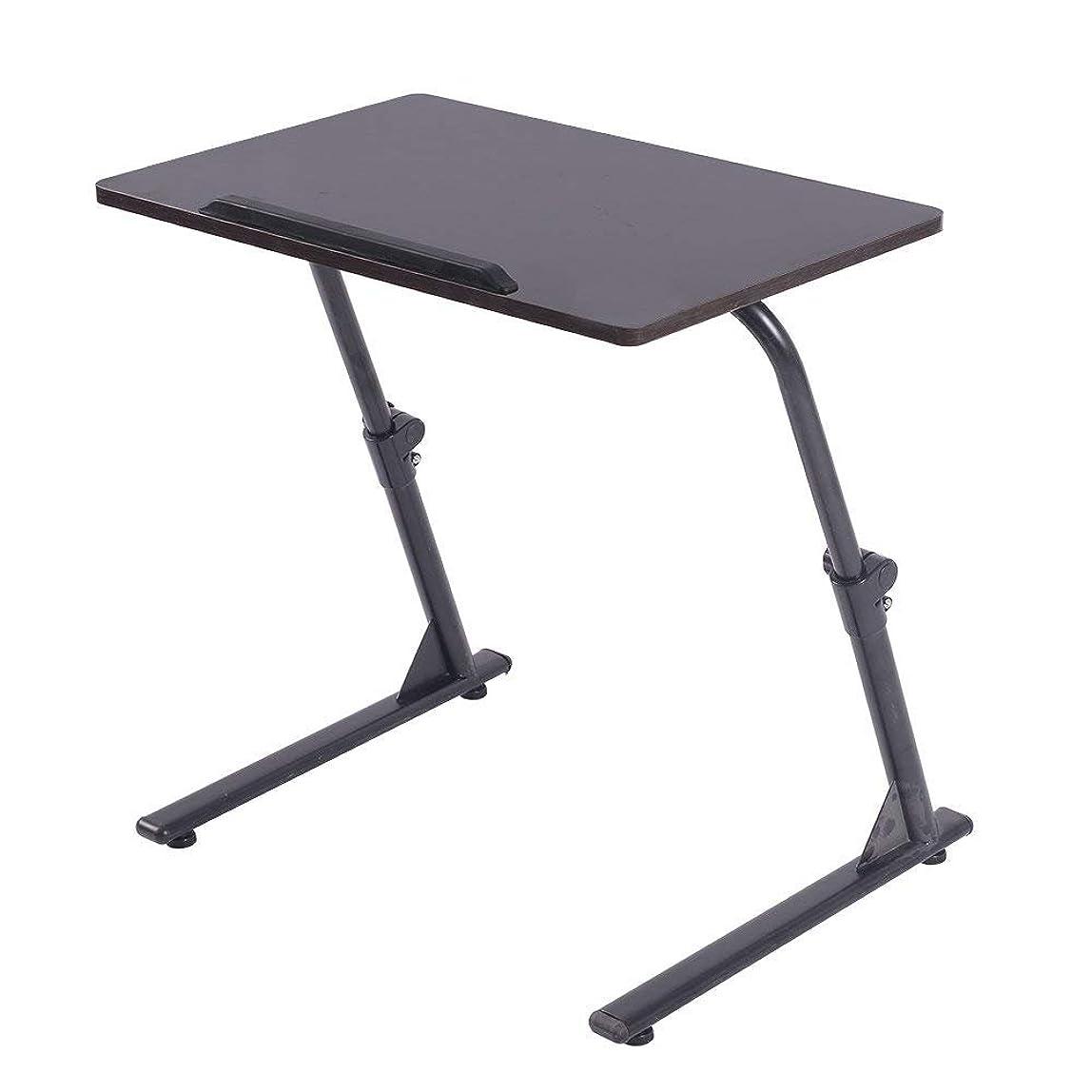 去るなかなかデータDlandHome 角度&高さ調節可能 机 デスク 昇降式サイドテーブル … (ブラック)